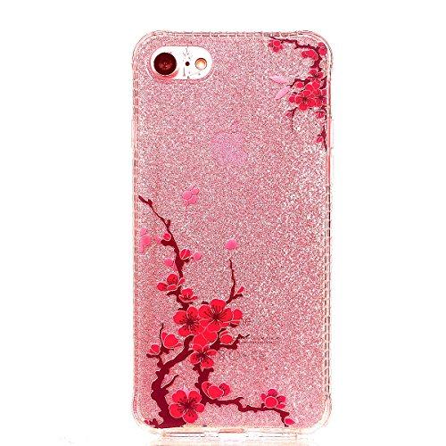 iPhone 8 Hülle, Voguecase Silikon Schutzhülle / Case / Cover / Hülle / TPU Gel Skin für Apple iPhone 8 4.7(Rot Fuchs 02) + Gratis Universal Eingabestift Pflaumen 13