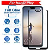FASHIONISTA Full Glue Honor Play Full Coverage 5D Tempered Glass, Full Edge-to-Edge 5D Screen Protector -Black (Pack of 1)