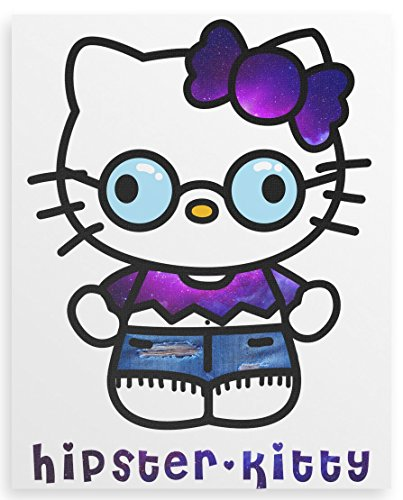 Hipster Kitty Canvas print -
