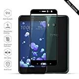 Protections écran HTC U11[Version parfaite améliorée], Beyeah FULL Cover 2.5D Pro-Fit V2 en verre trempé Film Verre Trempé pour HTC U11 (Noir)