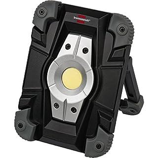 Brennenstuhl Projecteur LED Rechargeable 10W (1000lm, Utilisation en intérieur et en extérieur IP54, avec prise-chargeur USB) Noir