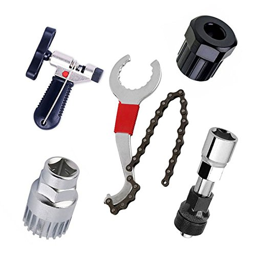Cikuso Mountain Bike Repair Tool Kits Fahrrad Kettenschneider/Kette Removel/Bracket Remover/Freilauf-Entferner/Crank Puller Remover
