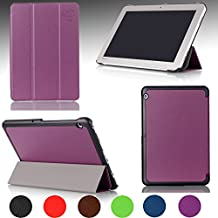 Ultra Slim For TOSHIBA Encore® 2 Write WT10PE-A264 Windows Tablet 10.1-inch Magnetic closure Luxury QUALITY PU LEATHER PROTECTIVE CASE, COVER, STAND with Hard Shell! PURPLE