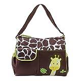 Prochive Multifunktionale Mama Handtasche Baby Wickeltasche Reisen Tasche Giraffen Muster Grün