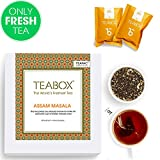 #5: Teabox Assam Masala Chai Spiced Tea, 44 Teapac Teabags (4 Free Exotic Sample Teapacs) | 100% Natural Ingredients: Cinnamon, Cardamom, Black Pepper, Ginger | Sealed-at-Source Freshness