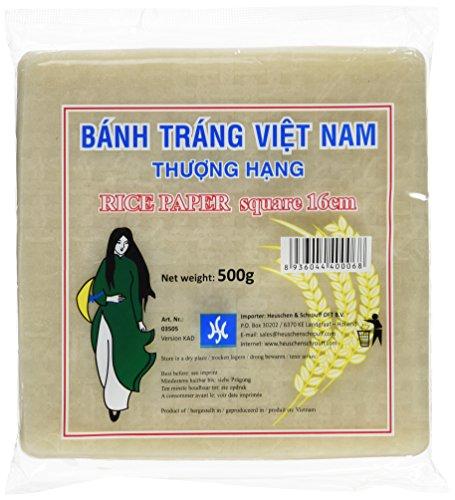 HS Vietnamesische Reispapier Quadratisch 500g, 8er Pack (8 x 500 g) (Frische Frühlingsrollen)