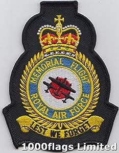 Battle of Britain Memorial Flight RAF Royal Air Force Emblem Patch, Gestickt