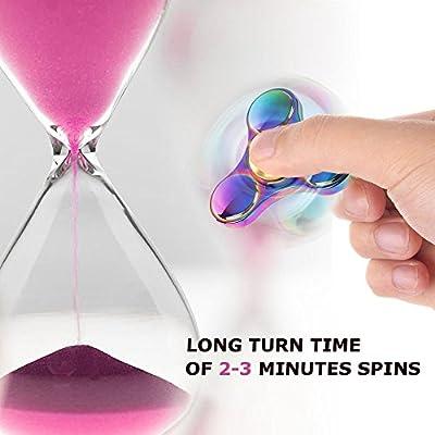 Fidget Toys Hand, Migimi Regenbogen Metall Spinner Finger Spielzeu Entlastet Autismus und Angst und Entspannung, Perfekt für Kinder und Erwachsene Spielzeug Geschenke