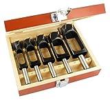 ENT 09152 5-tlg. Zapfenschneider Set WS - Ø 15-20 - 25-30 - 35 mm - sehr gut zum Herstellen von Holzdübeln und Zapfen geeignet