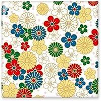 Azulejos de cerámica para decoración de baño, cocina, azulejos de cerámica, diseño de flores de crisantemo, estilo japonés, estilo Sakura