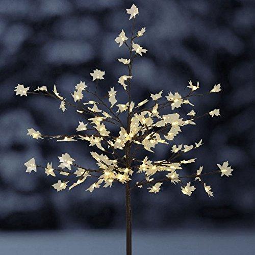 Solar-Steckbaum Ahorn mit 128 LED Beleuchtung Deko-Baum Garten Winterdeko