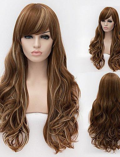 Perruque & xzl Perruques Fashion fil à haute température européennes et américaines de haute qualité grosse vague fille nécessaire perruques de cheveux de la mode