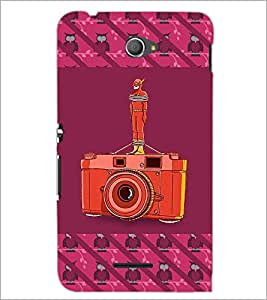 PrintDhaba camera D-5771 Back Case Cover for SONY XPERIA E4 (Multi-Coloured)