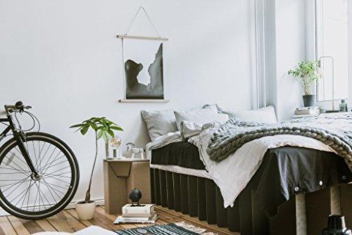 ROOM IN A BOX | Bett 2.0 S/S: Nachhaltiges Klappbett aus Wellpappe in der Größe 90 x 200 cm und alle Zwischengrößen. Ideal auch als praktisches Gästebett, da leicht verstaubar und ein Lattenrost nicht benötigt wird. - 5