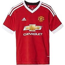 adidas MUFC H JSY Y - Camiseta para niño, color rojo/blanco, talla 176