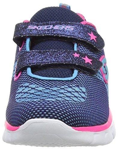 Skechers Synergy Knittabit, Scarpe Running da Bambine e Ragazze Blu (Navy Hot Pink)