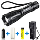BYBLIGHT-600-Lumens-CREE-Tactical-LED-Torch-Adjustable-Focus-Flashlight-with-USB-Charger-and-18650-Rechargeable-Battery-5-Mode-Pocket-E6-Torch-IP65-Waterproof-for-Camping-Hiking-Use