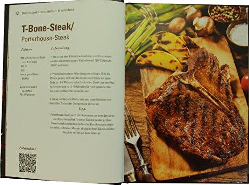 51AptdTSj%2BL - AV Andrea Verlag Das perfekte Steak im Geschenke Set groß stabil hochwertig mit original Jack Daniels BBQ Sauce oder Grillzange mit Flaschenöffner (Das perfekte Steak mit BBQ Sauce 22522)