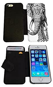 iphone 6 4.7'' Vintage Aztec elephant Cool Funky Design Trend Funny Design Full Case / Book Style Flip cover Defender Credit Card Holder Pouch Case Cover iPhone Wallet TPU Leather