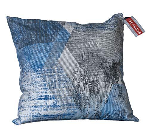 Hossner, Tischdecken, Läufer und Kissenhüllen in verschiedenen Größen, Design Melbourne blau (Kissenhülle ca. 50x50 cm) -