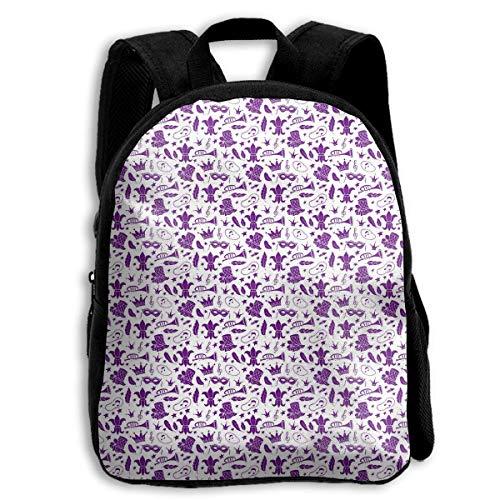lloon Carnival Mask Children's Backpack Kids School Bag with Adjustable Shoulders Ergonomic Back Pad Perfect for School Security Sporting Events Kinderrucksack Rucksack ()