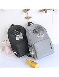 Preisvergleich für Mings Haltbares Material Kreatives Wort-Druckmittelschüler-Schultaschen-Nylonrucksack