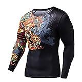 Z-Pertbil Sport Mann Shirt 3D Dragon Gym Kleidung FüR Gym S-2Xl Fitness Crossfit Plus GrößE Gcj202 Asia XXL