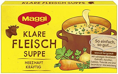 Maggi Bouillon Fleisch Suppe, 12er Pack (12 x 168 g)
