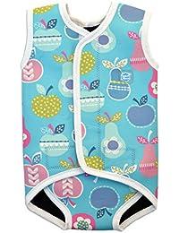 Splash About Baby Wrap - Traje de neopreno para niños, color azul, con diseño de tutti frutti, 6-18 meses