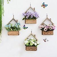 Bloomma de madera colgante de pared plantador planta de aire maceta contenedor decoración de la pared