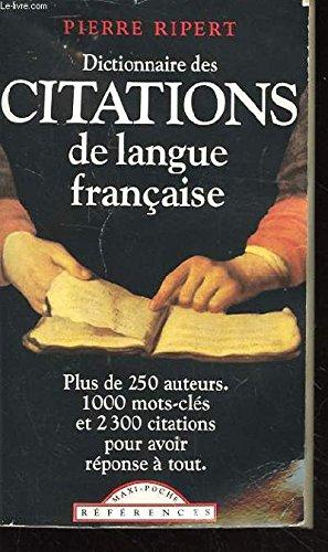 Dictionnaire des citations de langue française