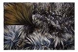Fabrics-City BEIGE-BRAUN-GRAU DESIGNER PELZ LANGHAAR FELLIMITAT 6 BIS 8CM STOFF STOFFE, 4130