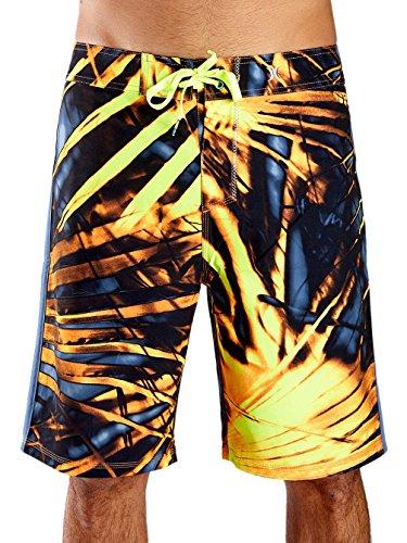 Hurley Board Shorts - Hurley Phantom JJF II Board Shorts - Rio Teal total orange