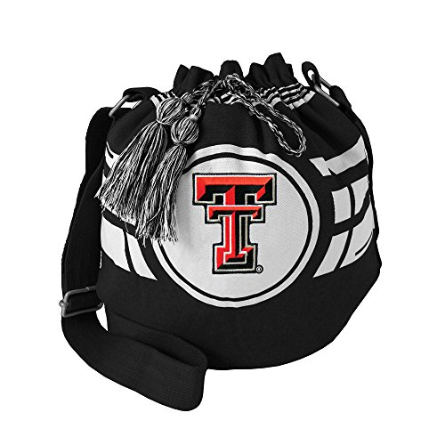 Littlearth NCAA Texas Tech Rot Raiders Ripple Kordelzug Eimer Tasche -