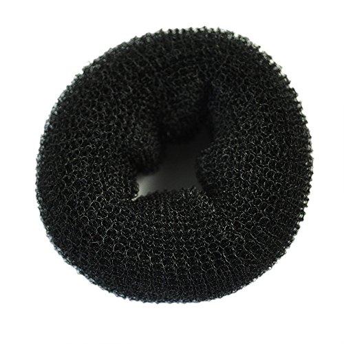 TOOGOO(R) Chignon Formeur Beignet Cerceau Formeur ANNEAU style de coiffure-Noir