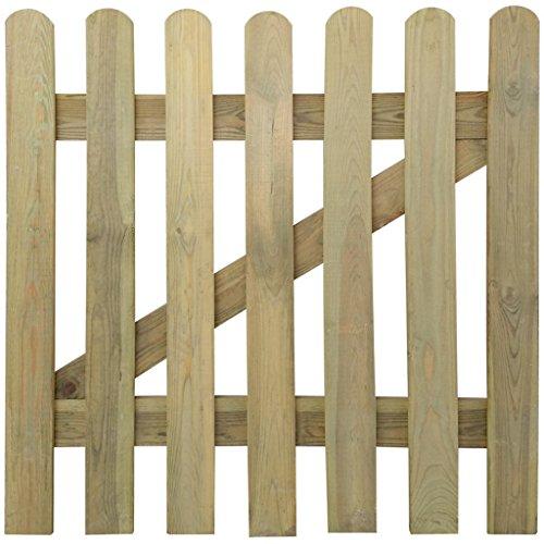 Galleria fotografica vidaXL Cancello di legno a picchetto per giardino 100 x cm