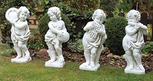 Set Putten Vier Jahreszeiten (S283-S286) Gartenfiguren Kinder Statuen Steinguss -
