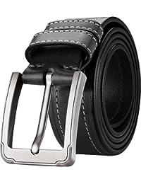 15bbb722de0 Blasea Cuir véritable style décontracté boucle ardillon jeans ceintures  pour hommes