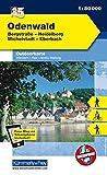 Deutschland Outdoorkarte 35 Odenwald 1 : 35.000: Bergstraße-Heidelberg, Michelstadt-Eberbach. Wanderwege, Radwanderwege, Nordic Walking (Kümmerly+Frey Outdoorkarten Deutschland) -