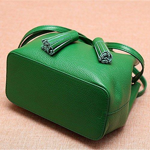 Womens Soft Borsette in pelle multicolor borsa a tracolla borse da viaggio,verde Verde