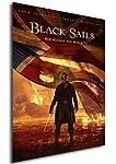 Poster Formato A3 ( 42 x 30 cm ) che rappresenta la locandina della terza stagione di Black Sails dal celebre canale Starz