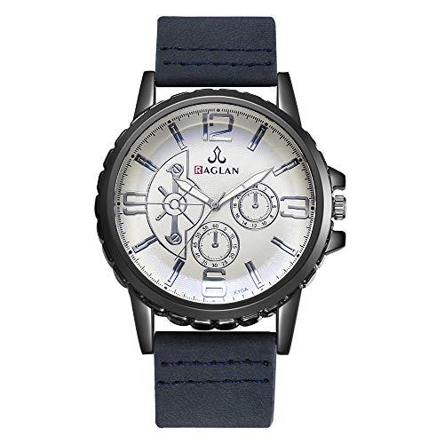 IG Invictus Mode Männer Quarzuhr Hochwertige Lederuhr Blu Ray Glas Armbanduhr Raglan XR3066 Herrenuhr mit Gürtel Männer Uhr