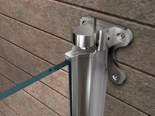 Duschtrennwand Rono 80×140 cm (Badewannenaufsatz) - 3