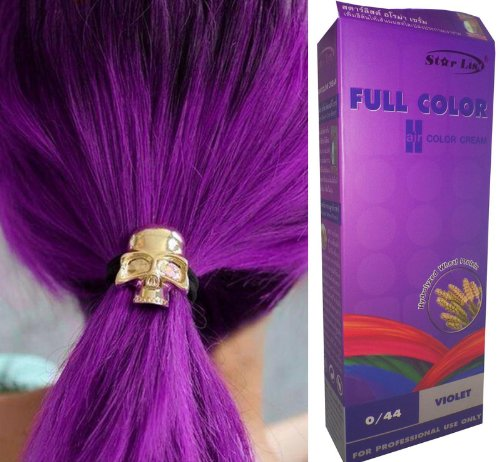 Permanente Haarfarbe Tönung Coloration Haar Cosplay Gothic Punk VIOLETT 0/44 OHNE Parabene, Ammoniak, Silikone, Sulfate