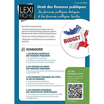 Droit des finances publiques : Les finances publiques étatiques et les finances publiques locales