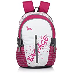 Bag-Age White Gold Casual Laptop Backpack (Pink)