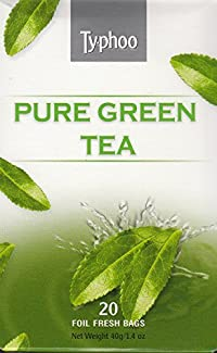 Typhoo Tea - 20 Foil Fresh Bags (Pure Green Tea)