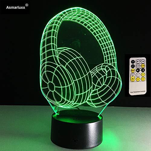 Bestes Weihnachtsgeschenk 3D DJ-Kopfhörer-Form-Dia-Studio-Musik-Monitor-Kopfhörer Bunte Hifi Musik-Kopfhörer LED-Lichter