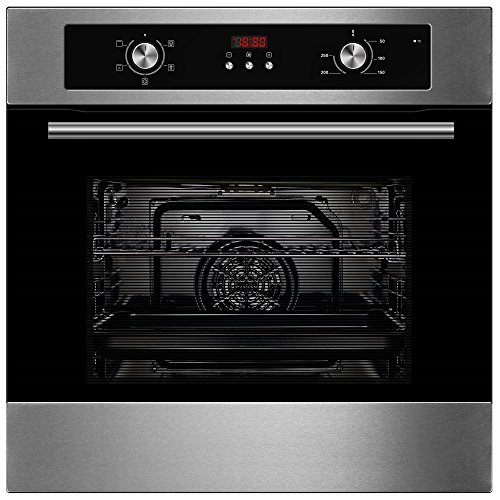 51Aq1QxCyGL. SS500  - Cookology Built-in Electric Single Fan Oven in Stainless Steel with Programmable Timer & Digital Clock | COF605SS