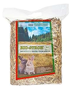 HEU-HEINRICH Paille biologique Litière confortable pour animaux domestiques 6 x 1kg